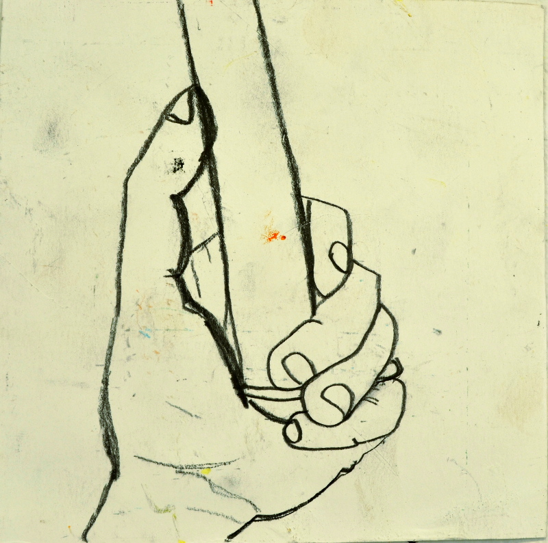 Hand with Spike Drawing